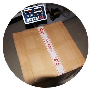 Посылка запечатывается и ставится на весы - в таком состоянии покупателю  Выгоднокупи. рф выставляется счёт за доставку